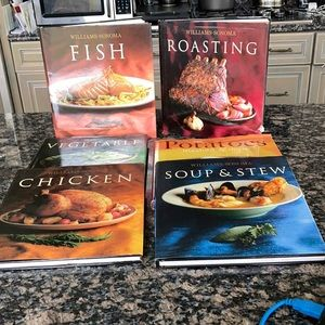 WILLIAMS SONOMA COOK BOOKS SET OF 6